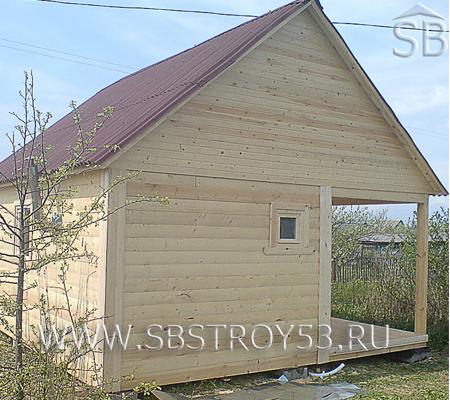 Одноэтажная баня. Размер: 5х6 м.