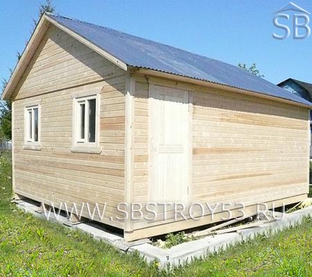 Каркасно-щитовой дом. Размер: 6х6 м.