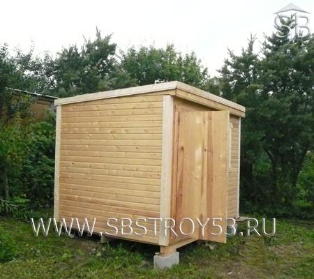 Рабочий домик (бытовка) для строителей. Размер: 2х3 м.