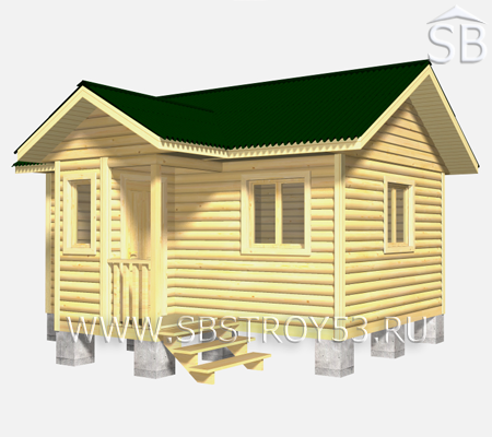 Проект брусовой бани 5.5х6 (В-21)