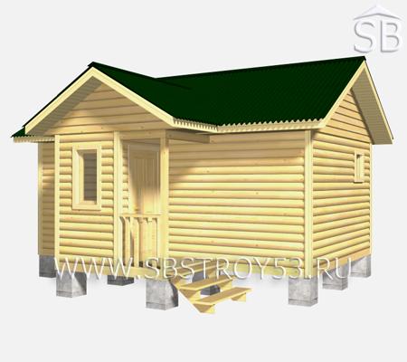 Проект брусовой бани 7х6.5 (В-24)