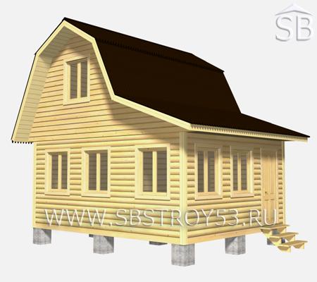 Проект деревянного дома 6х5 (D-2)
