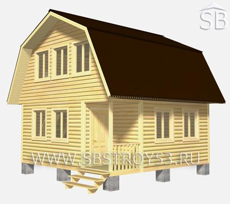 Проект деревянного дома 6х6 (D-5)