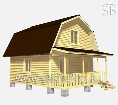Проект деревянного дома 6х7.5 (D-8)