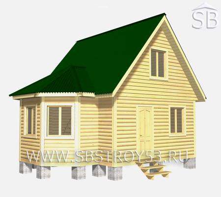 Проект деревянного дома 6x7 (D-16)