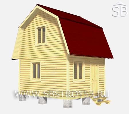 Проект деревянного дома 4х5 (D-24)