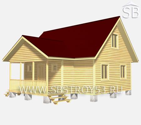 Проект деревянного дома 9х9 (D-30)