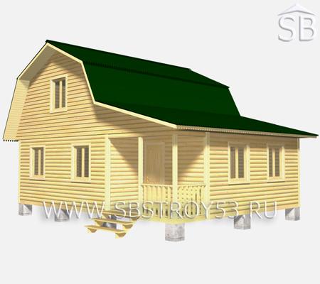Проект деревянного дома 7х9 (D-31)