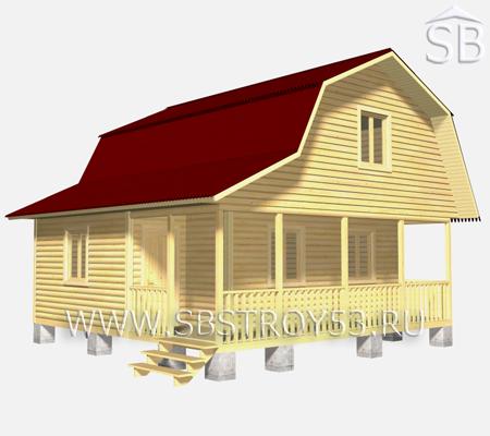 Проект деревянного дома 7.5х7.5 (D-33)