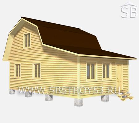 Проект деревянного дома 6х9 (D-36)